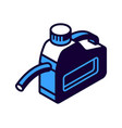 gasoline canister with nozzle isometric icon vector image
