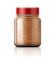 Glass jar with instant coffee vector image vector image