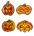 halloween head vector image vector image