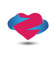 heart with tape design vector image vector image