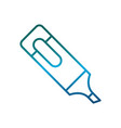 highlighter pen icon vector image vector image