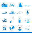 iicon set of water symbol vector image