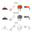 isolated object of mountaineering and peak icon vector image vector image