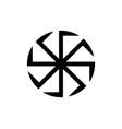 kolovrat swastika or sauwastika isolated vector image vector image
