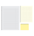 lined simple blank note pat template of clear vector image