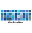 modern blue color palette set cerulean vector image vector image