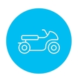 Motorcycle line icon vector image