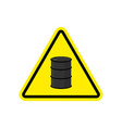 oil attention sign symbol warning of dangerous vector image vector image