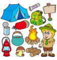outdoor collection vector image