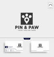 pin or location pet animal logo template icon vector image vector image