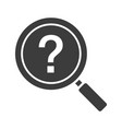 Problem solution search glyph icon