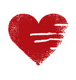 red abstract heart with drops and streaks vector image