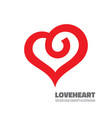 red heart - logo template concept vector image vector image