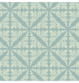 Retro blue vintage floral seamless pattern vector image vector image