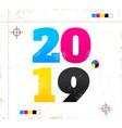 retro poster for new year 2019 vector image vector image