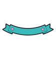 ribbon frame isolated icon vector image