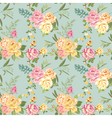 Seamless Flower Background - Shabby Roses vector image vector image