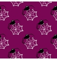 Seamless Pattern Halloween Spider vector image