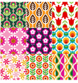 seamless retro flower pattern vector image vector image