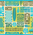 seamless retro tiki pattern vector image