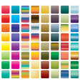 set of colorful button vector image vector image