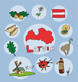 set of national profile of the latvia vector image vector image