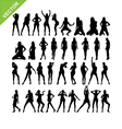 Sexy women and dancing silhouettes set 15 vector image vector image