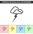 simple outline transparent stormy weather icon vector image