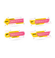tag label promotion website banner heading yellow vector image