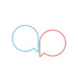 two bubbles chat message icon two blank round vector image vector image