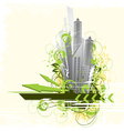 urban city background vector image vector image
