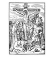 vintage antique religious biblical drawing or vector image