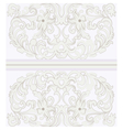 Vintage ornamental lace with floral card vector image vector image