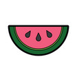 watermelon tropical fruit health nutrition food vector image