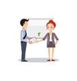 Woman and Manager Daily Routine Activities of vector image vector image