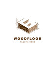 wood logo with letter e shape vector image vector image