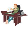 work away from office job at home funny people vector image vector image