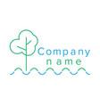 contour logo for company vector image