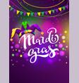 banner for carnival mardi gras garland flag vector image