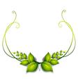 A simple leafy border vector image vector image