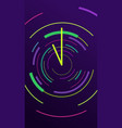 abstract background with circle line on dark vector image