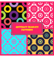 abstract round shape patterns set vector image vector image