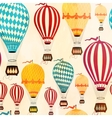 Air balloon pattern vector image vector image
