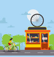 bicycle repair and maintenance service tools and vector image