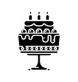 big cake black icon concept vector image