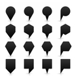 Black location icon flat map pins sign web button vector image vector image