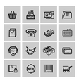 black shopping icons set vector image vector image