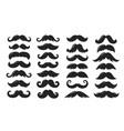 black silhouettes moustache collection vector image
