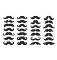 black sillhouettes moustache collection vector image