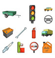 car vehicle cartoon icons in set collection for vector image vector image